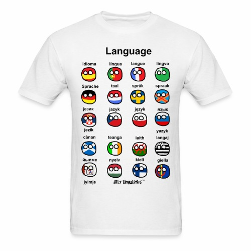 Languages (Atlaans version) - Men's T-Shirt