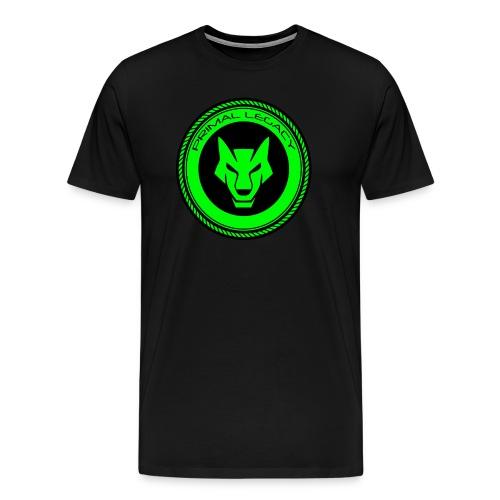 wolf logo (green) mens - Men's Premium T-Shirt