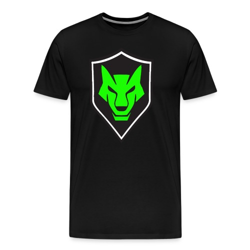 wolf shield logo (green) mens - Men's Premium T-Shirt