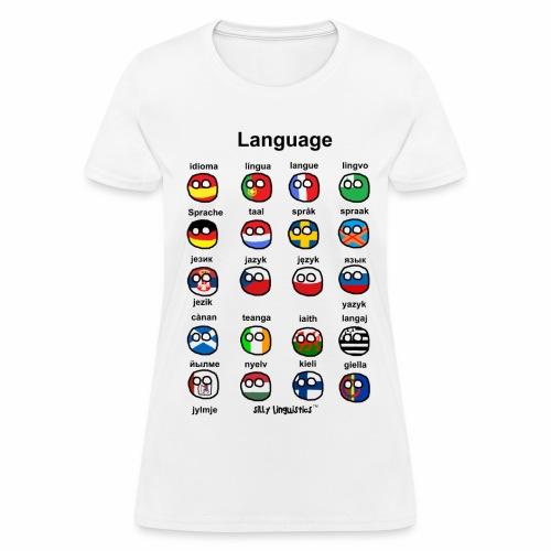 Languages (Atlaans version) - Women's T-Shirt