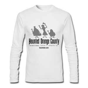 Haunted OC Hitchhikers Long Sleeve Tee (White) - Men's Long Sleeve T-Shirt by Next Level
