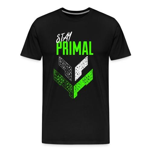 Stay Primal (green) mens - Men's Premium T-Shirt