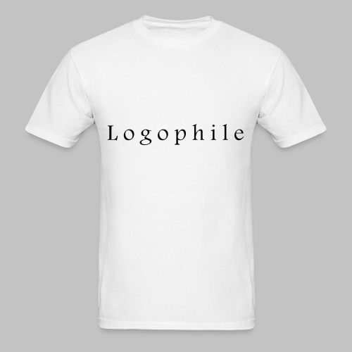 Logophile Men's T-Shirt - White and Black - Men's T-Shirt