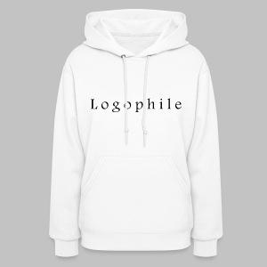 Logophile Women's Hoodie - White and Black - Women's Hoodie