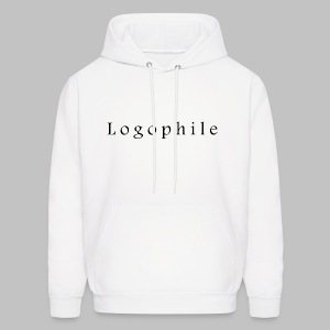 Logophile Men's Hoodie - White and Black - Men's Hoodie
