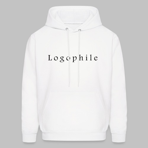 Logophile Men's Hoodie - White and Black - Men's Hoodie