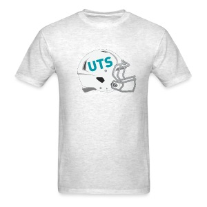 Men's UTS Gridiron Helmet Regular T-shirt - Grey - Men's T-Shirt
