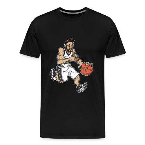 Wally Black and White Tww - Men's Premium T-Shirt