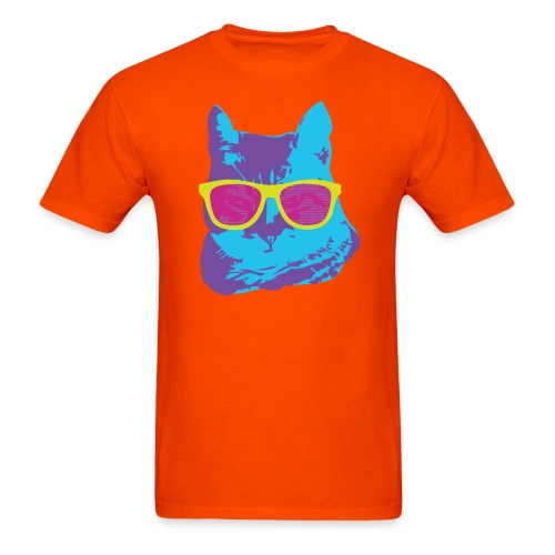 trippy cat unisex - Men's T-Shirt