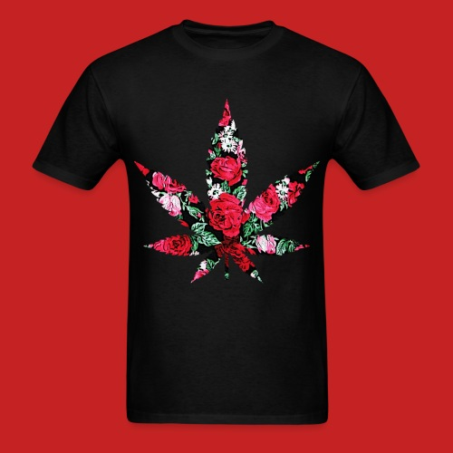 Floral Pot Leaf T-Shirt - Men's T-Shirt