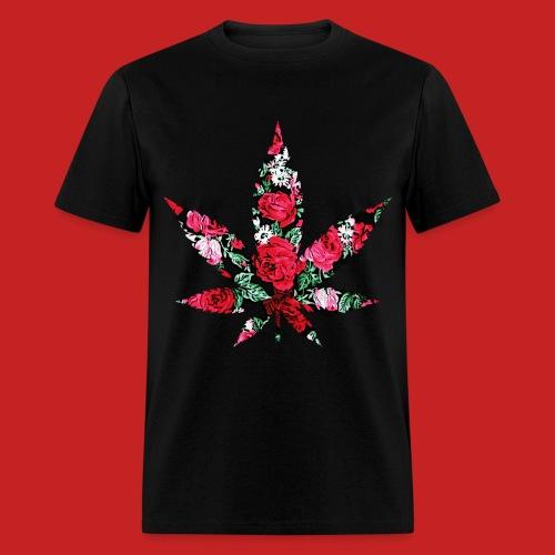 Floral Pot Leaf T-Shirt - Men's T-Shirt
