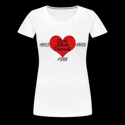 Heart of CAU - White - Women's Premium T-Shirt