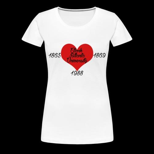 Heart of CAU - White - Women's Premium T-Shirt