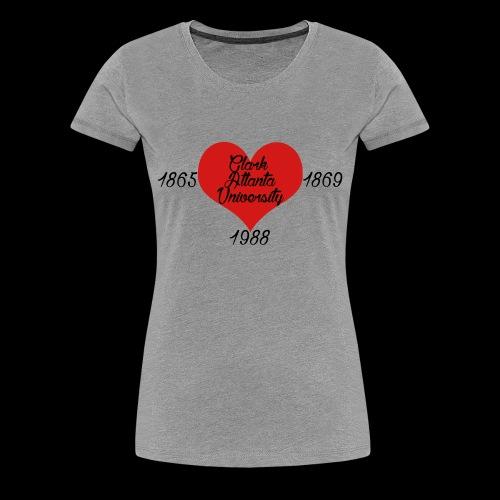 Heart of CAU - Grey - Women's Premium T-Shirt