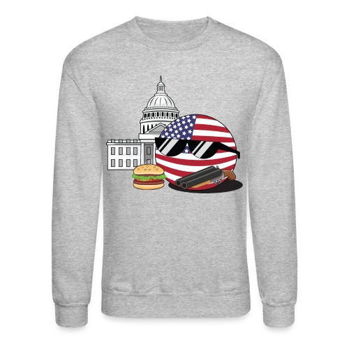 USABall I - Men's Crewneck Sweatshirt - Crewneck Sweatshirt