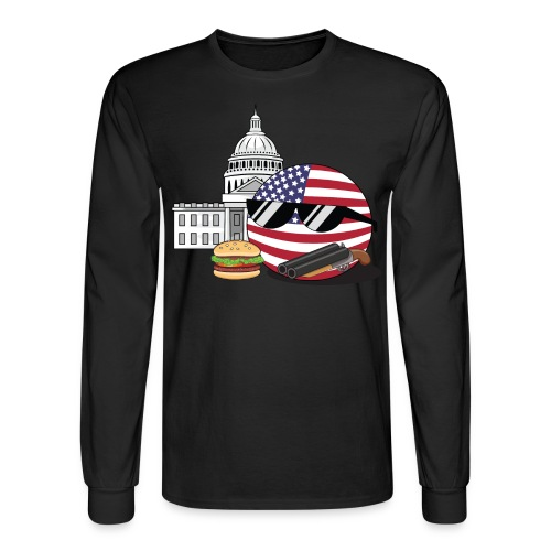 USABall I - Men's Long Sleeve - Men's Long Sleeve T-Shirt