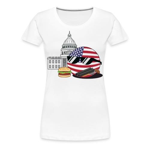 USABall I - Women's Premium T-Shirt - Women's Premium T-Shirt