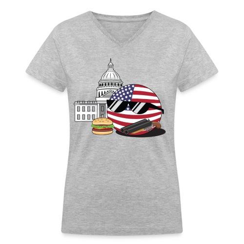 USABall I - Women's V-Neck T-Shirt - Women's V-Neck T-Shirt