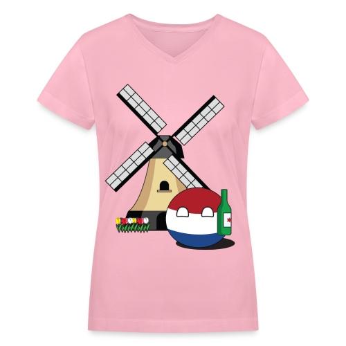 NetherlandsBall I - Women's V-Neck T-Shirt - Women's V-Neck T-Shirt