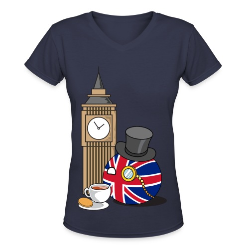 UKBall I - Women's V-Neck T-Shirt - Women's V-Neck T-Shirt