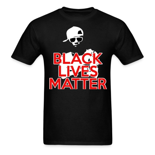 Black Lives Matter (Hat) - Men's T-Shirt