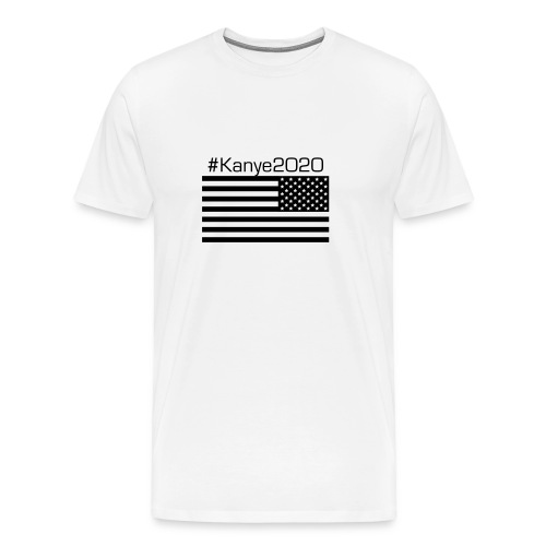 Kanye For President (Blk&Wht Flag) - Men's Premium T-Shirt