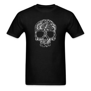 Tribal tattoo style gothic skull Men's T-Shirt - Men's T-Shirt