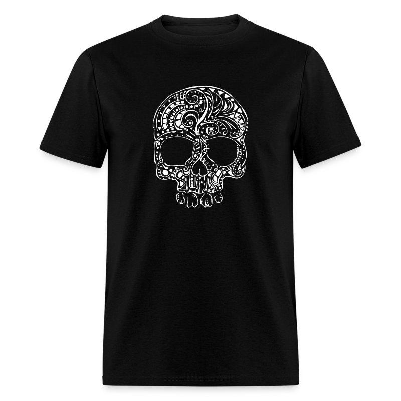 Tribal tattoo style gothic skull Men's T-Shirt - Men's T-Shirt