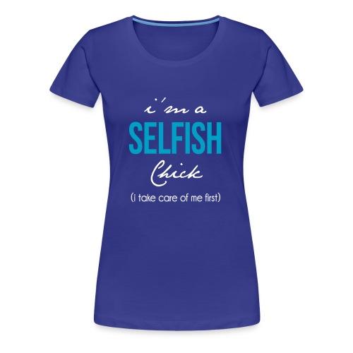 Women's Premium Selfish Tee - Purple - Women's Premium T-Shirt