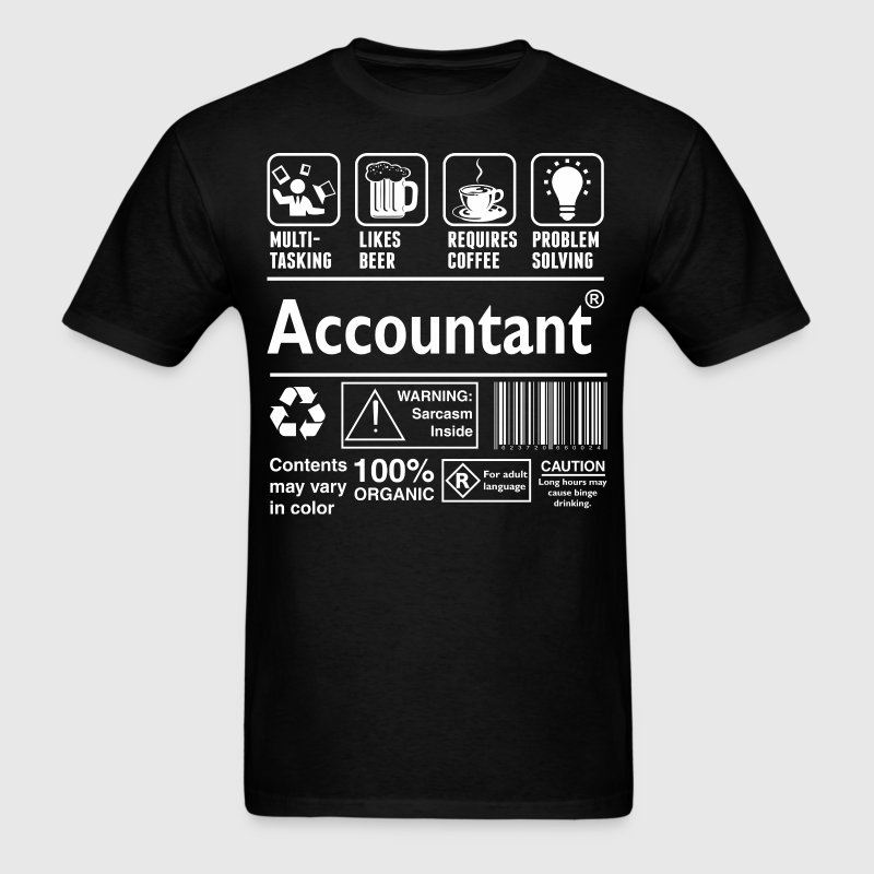 Multi Tasking Beer Coffee Problem Solve Accountant - Men's T-Shirt