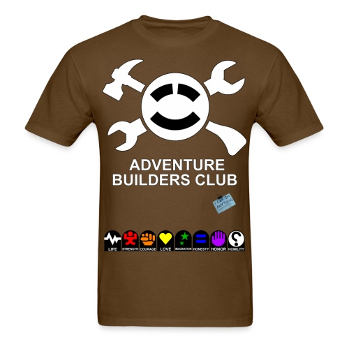 (Mens) Adventure Builder Shirt Front and Back.  It increases your stats! - Men's T-Shirt