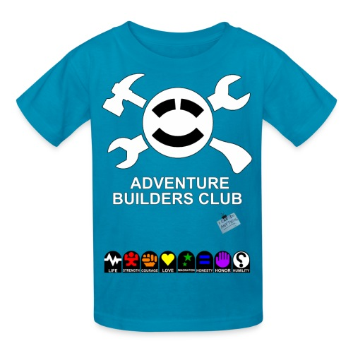 (Kids) Adventure Builder Shirt Front and Back.  Increases their stats, too! - Kids' T-Shirt