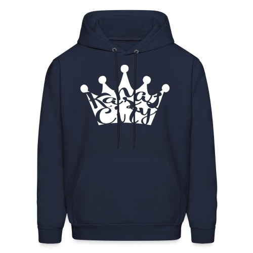 navy blue KC crown - Men's Hoodie