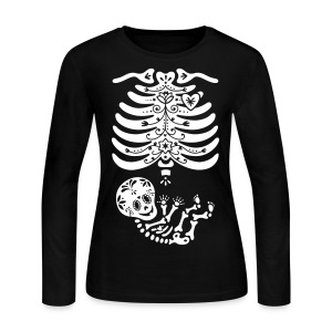 15 Sugar Skull Skeleton Maternity - Women's Long Sleeve Jersey T-Shirt