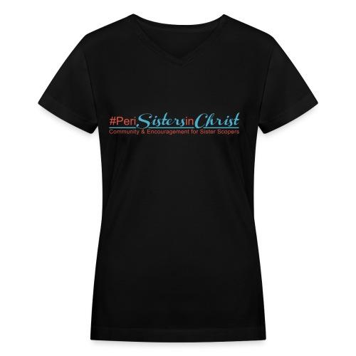 PeriSistersinChrist V-Neck T-Shirt - Women's V-Neck T-Shirt
