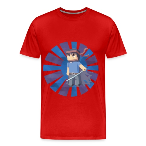 Minecraft Min3rpro Official logo in Blue! Man size - Men's Premium T-Shirt