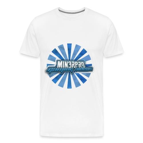 Minecraft Min3rpro Official logo in Blue! Man - Men's Premium T-Shirt