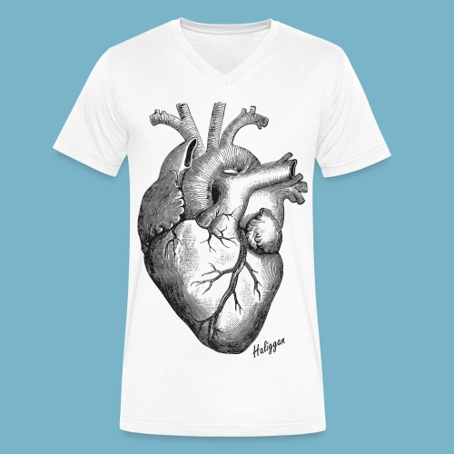 Heart V-neck  - Men's V-Neck T-Shirt by Canvas