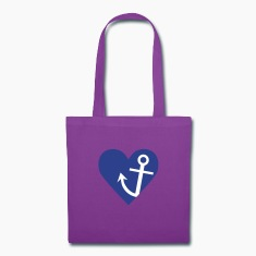 Anchor with heart Bags & backpacks