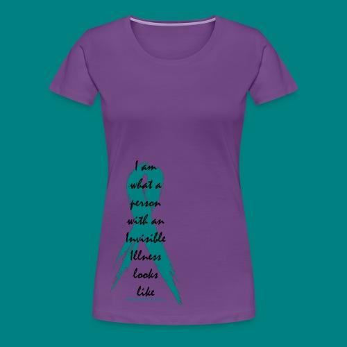 Women: Invisible Illness Black Letters Premium Shirt - Women's Premium T-Shirt