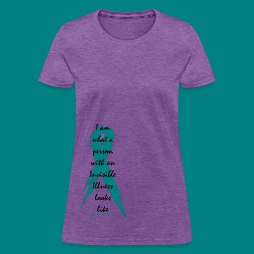 Women: Invisible Illness Black Standard Shirt - Women's T-Shirt