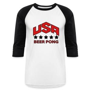 UJSA Beer Pong Baseball Tee - Baseball T-Shirt