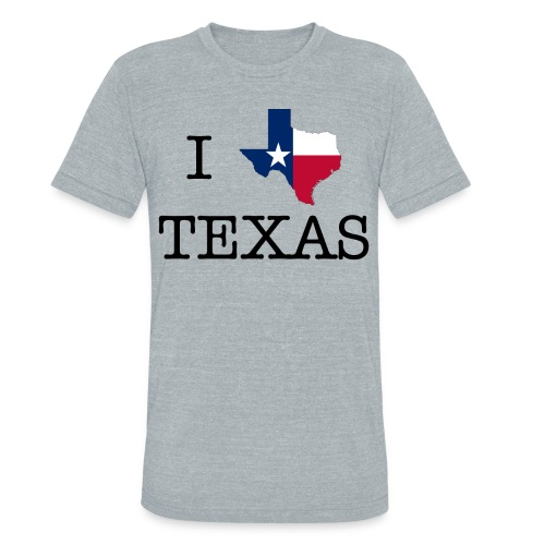 I LOVE TEXAS - Unisex Tri-Blend T-Shirt