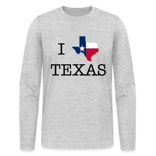 I LOVE TEXAS - Men's Long Sleeve T-Shirt by Next Level