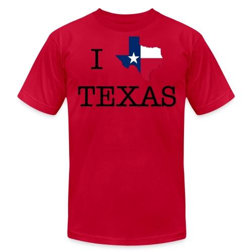 I LOVE TEXAS - Men's Fine Jersey T-Shirt