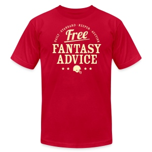 Free Fantasy Football Advice - Men's Fine Jersey T-Shirt