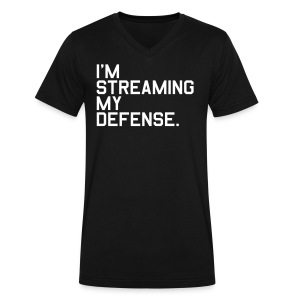 I'm Streaming my Defense. (Fantasy Football) - Men's V-Neck T-Shirt by Canvas