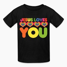 Jesus loves you christian kid