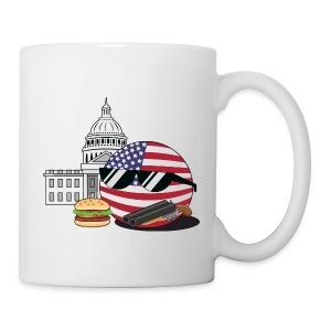 USABall I - White Mug - Coffee/Tea Mug