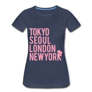 Girls' Generation - Mr. Taxi (Pink Flex Print) [Women's Shirt] - Women's Premium T-Shirt